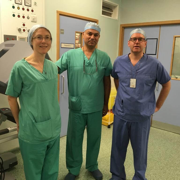 Robotic surgery training for the Optimise Weight Loss team